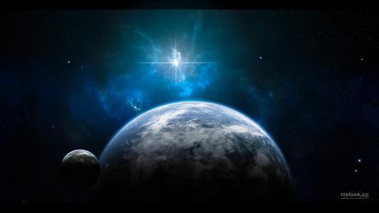 空间,地球,星星
