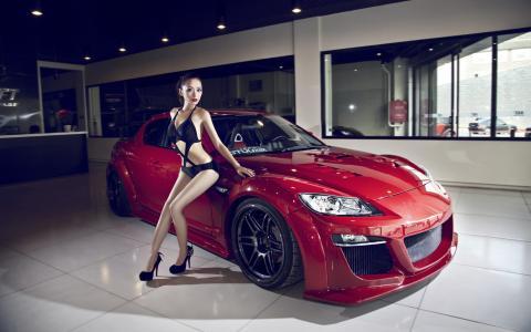 马自达,英俊,超级跑车,亚洲,构成