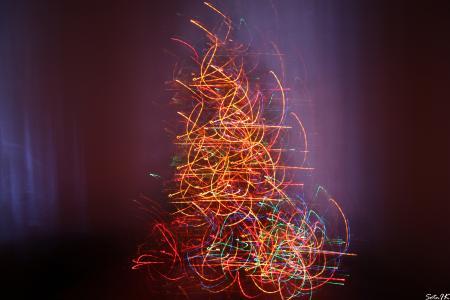 花环,影响,圣诞树,花饰,新的一年