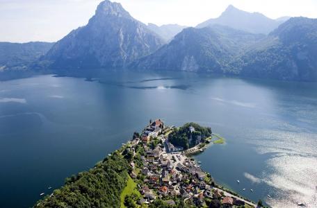 自然,山,镇,湖,美女,超级照片