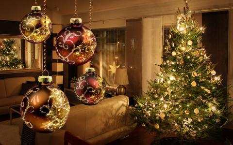 装饰品,新年,圣诞树,圣诞快乐,装饰