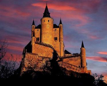 城堡,城堡,塔,天空