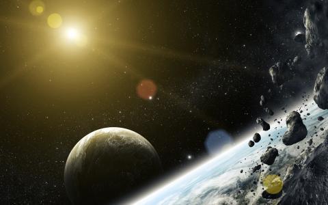 石头,行星,陨石,艺术,明星,空间