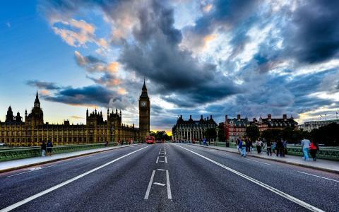 英格兰,伦敦,大笨钟,路