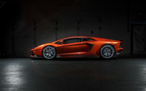 兰博基尼Aventador LP 700-4 Vorsteiner调音车,橙色,高清