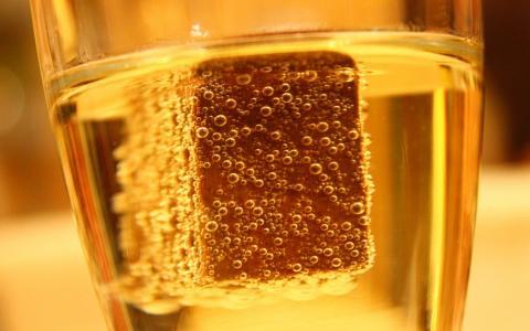香槟,宏,气泡,巧克力