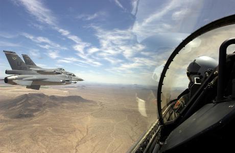 景观,沙漠,飞行员,飞行,飞机,战士
