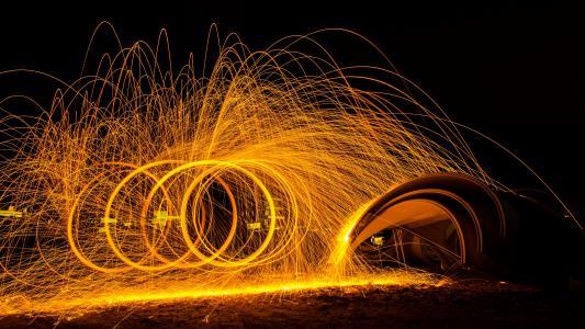 迷人的烟火火树银花