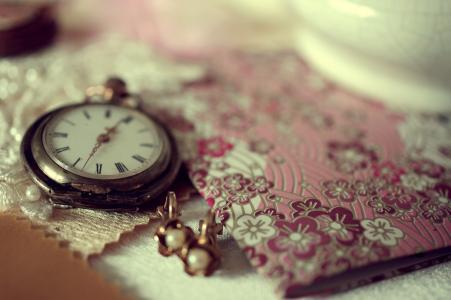 装饰品,表,时钟,笔记本,宏,耳环,时间
