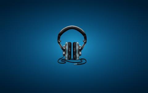 耳机,背景,电线
