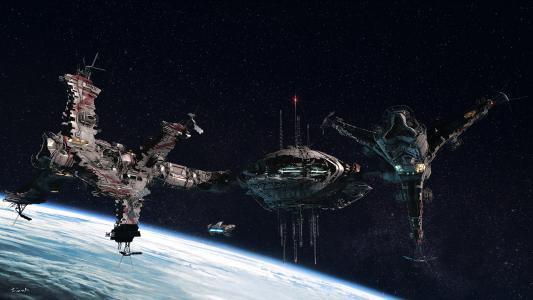 星星,车站,船舶,空间,星球
