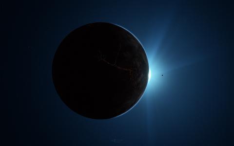 行星,暗侧,空间