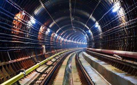铁轨,隧道,地铁