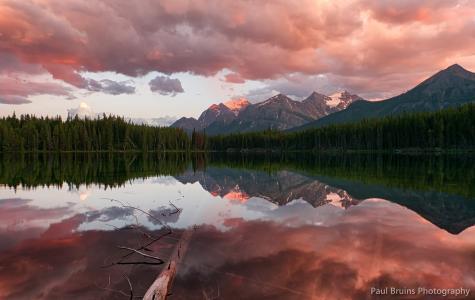 加拿大,班夫国家公园,落基山脉,赫伯特湖