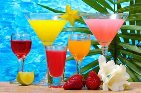 饮料,水果