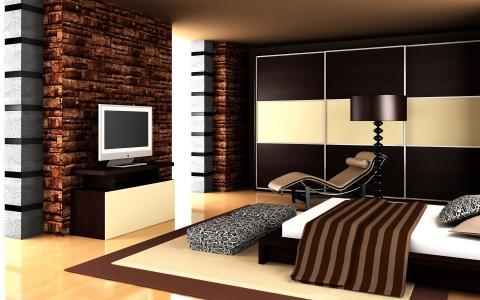 房子,安逸,公寓,室内,壁炉,厨房,卧室,客厅,壁纸