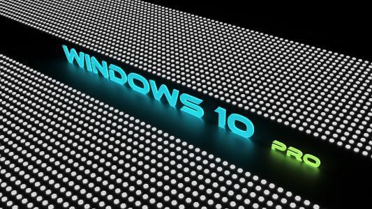 Windows 10 Pro,霓虹灯,颜色,4K