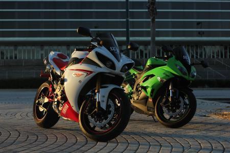 yamaha,yzf-r1,白色,川崎,忍者,zx-6r,绿色
