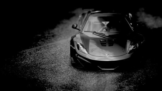 迈凯轮,超级跑车,黑暗的背景