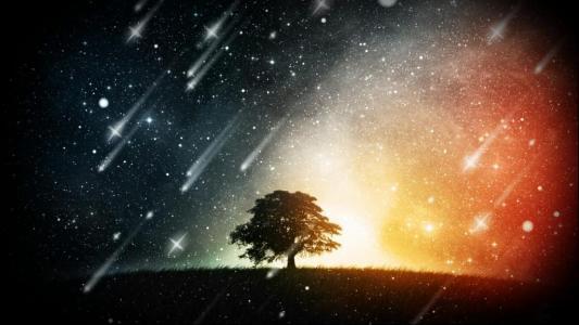 2020年唯美流星雨