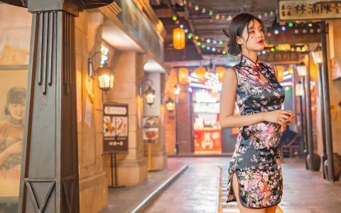 性感旗袍美女气质迷人写真