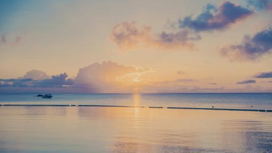 简约ins风海滩美景