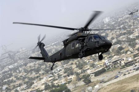 直升机,飞行,城市,uh-60,太阳美国