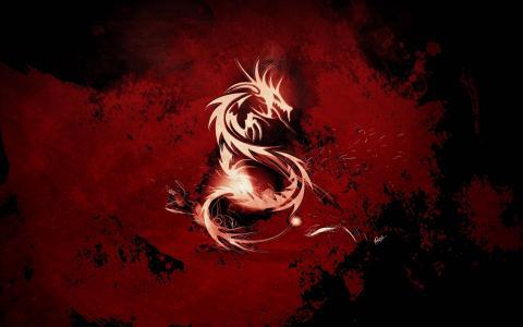 血,红,龙