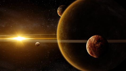 空间,星球,环,艺术,巨人,明星