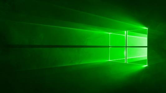 绿色,窗户,windows10