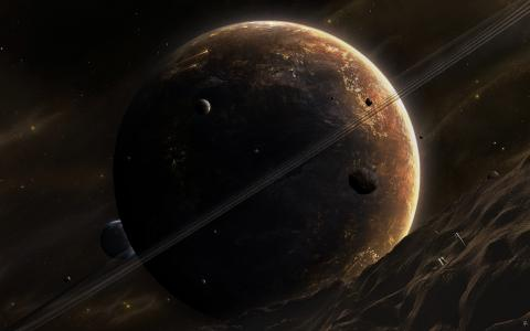 行星,methireites,视图