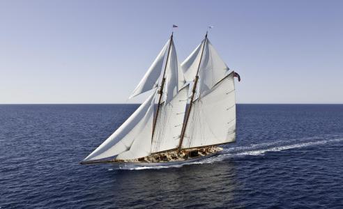 海,船,帆船,游艇,极端,娱乐,美丽
