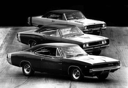 道奇,混合,黑白照片,肌肉车,轿跑车