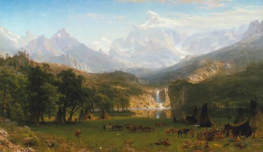 山,艾伯塔省,Bierstadt