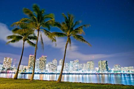 城市,檀香山,夏威夷