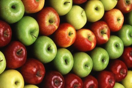 苹果,红色,黄色,绿色,多汁,成熟,水果