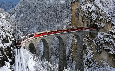 火车,桥梁,隧道