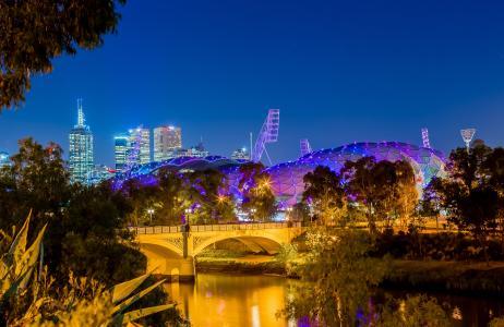 澳大利亚,城市,晚上