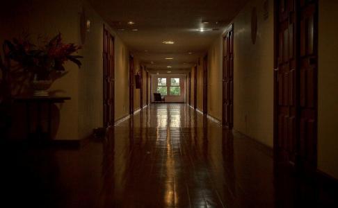 酒店,走廊,视角