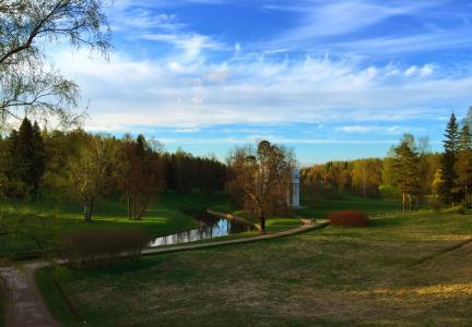 公园,春天,绿化