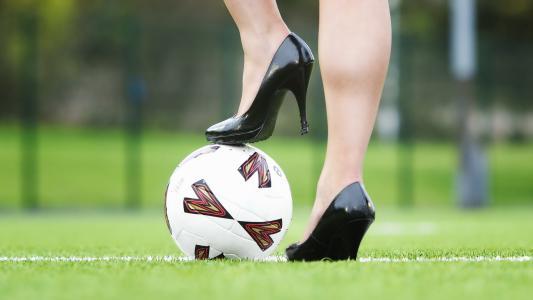 高跟鞋,球,田地,运动
