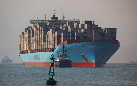 船,拖船,巨人,浮标