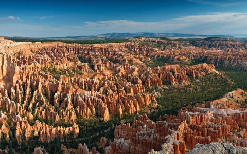 公园,景观,犹他州,布莱斯,点,布莱斯峡谷,国家公园,峡谷,性质