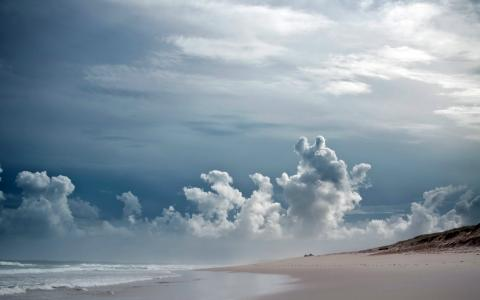 天空,岸,海,景观