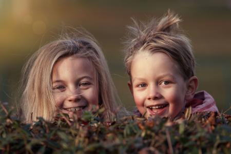 孩子,玩耍,乐趣,脸颊,微笑,快乐,朋友