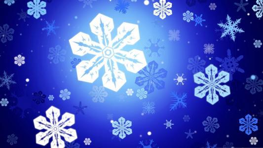 雪花,新的一年,雪