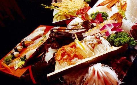 什锦,海鲜,美丽的装饰,菜肴