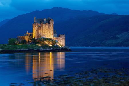多尼,苏格兰,英国,晚上,苏格兰,英国