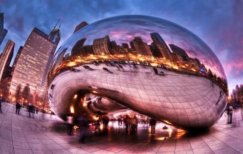 城市,千年公园,人,芝加哥