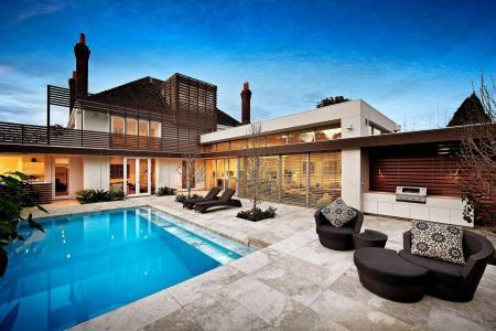 房子和舒适,游泳池